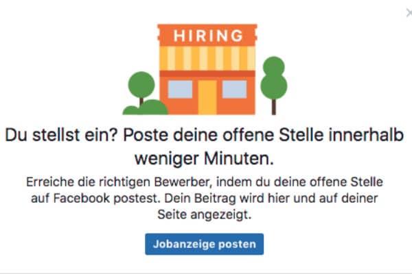 jobposting auf facebook - Bewerber Finden