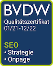 Qualitätszertifikat SEO BVDW Puetter Online Marketing Köln