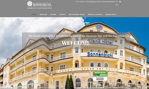 Online Marketing - Grand Hotel Sonnenbichl - Referenzen der Puetter GmbH