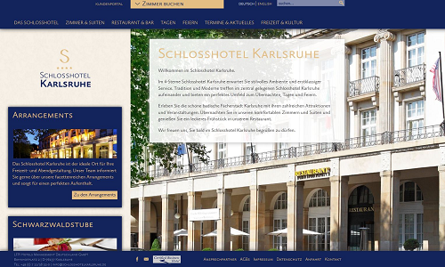 Online Marketing Referenz Puetter GmbH Schlosshotel Karlsruhe