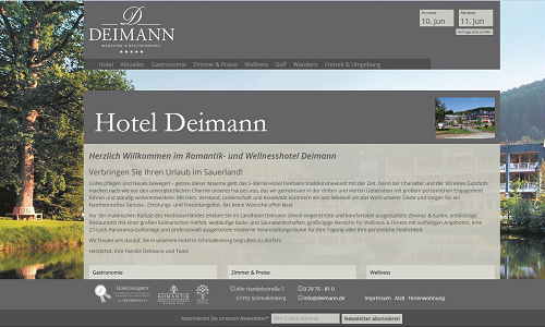Onlien Marketing Referenz Hotel Deimann
