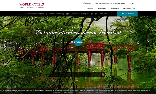 Projekt Online Marketing Referenz Puetter GmbH Worldhotels