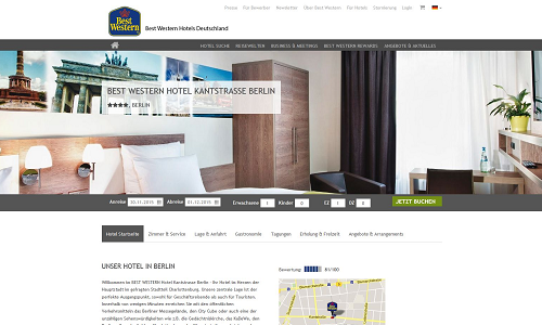 Revenue Management Referenz Puetter GmbH Best Western Berlin