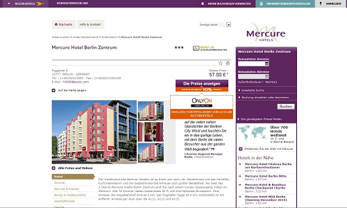 Revenue Management Referenz Puetter GmbH Mercure Berlin