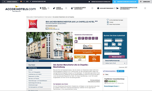 Revenue Management Referenz Puetter GmbH ibis Aachen
