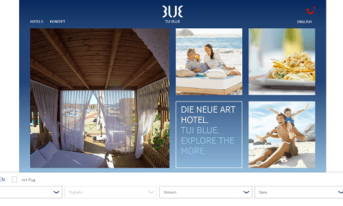 Online Marketing Referenz Puetter GmbH TUI Blue