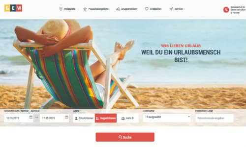 GEW Ferien Referenz Puetter Online Marketing Agentur
