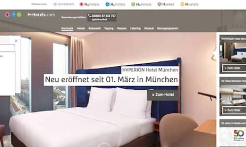 H-Hotels Referenz Puetter Online Marketing Agentur Köln